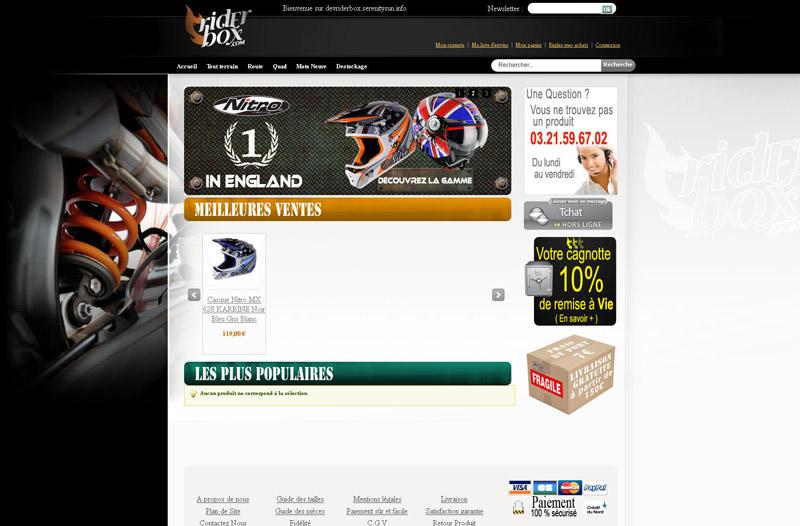 Site Ecommerce RiderBox