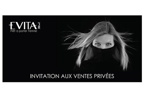 invitation vente privée evita