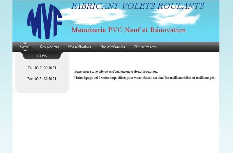 Site Web pour MVF Menuiserie