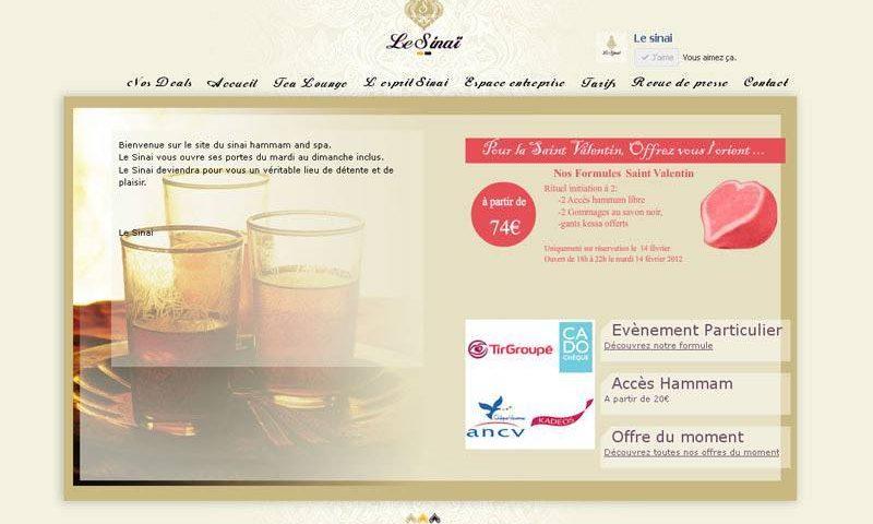 Site Web pour le hammam Le Sinaï
