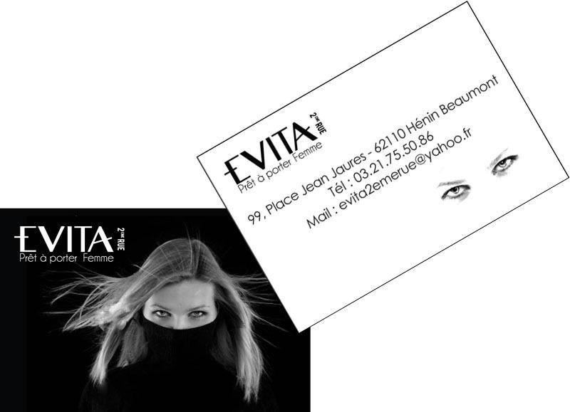 carte de visite évita