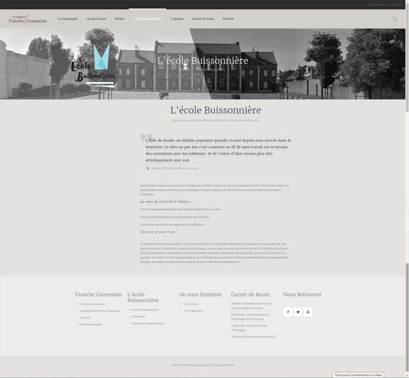 Site Web de la Compagnie Franche Connexion école buissonnière